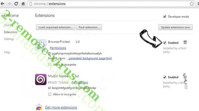 PDFConverterSearch4Free Chrome extensions disable