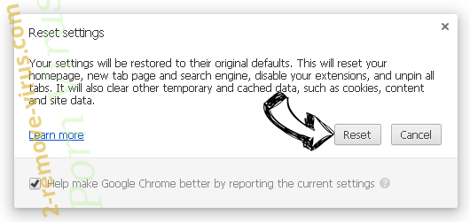 Remove YesSearches.com Chrome reset