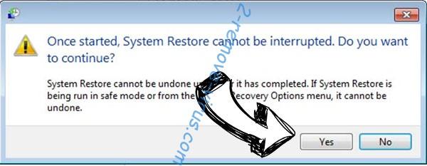 CerberTear removal - restore message