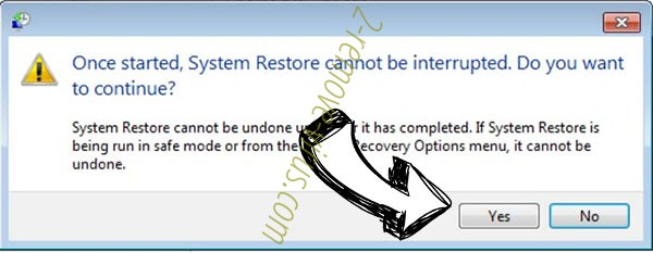 VirTool:Win32/DefenderTamperingRestore removal - restore message