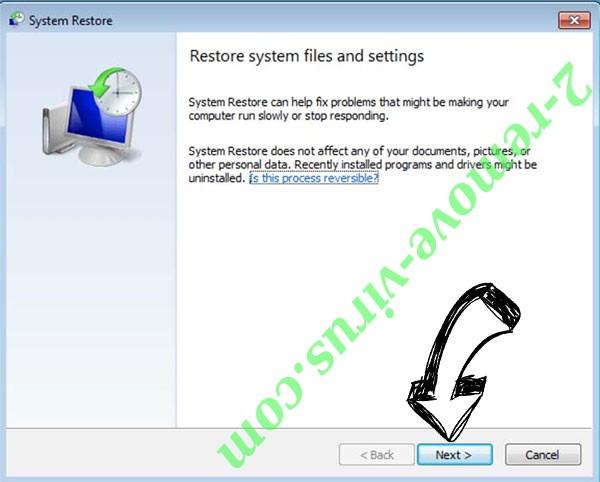 Get rid of FOO ransomware - restore init