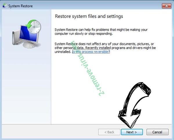 Get rid of Konx ransomware - restore init