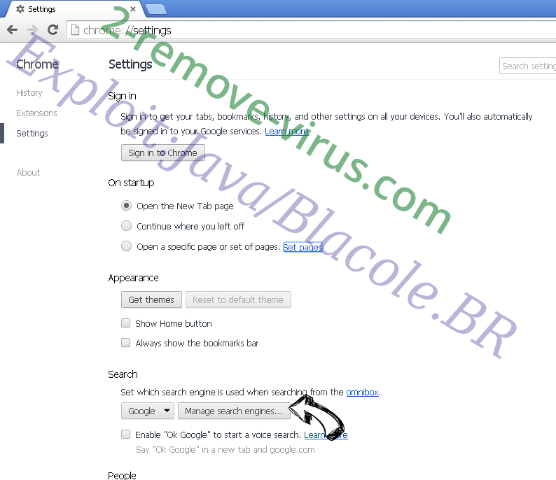 search.pizgetz.com Chrome extensions disable