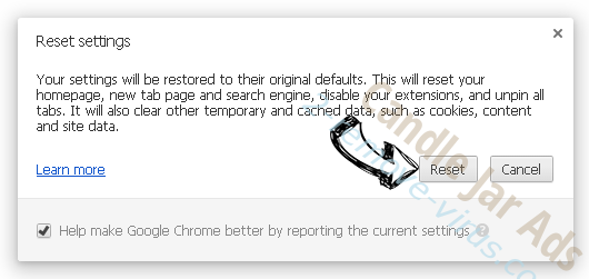 GoSearch Adware Chrome reset