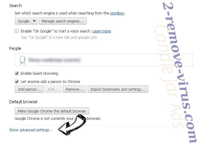 TopSportsSearch Chrome settings more