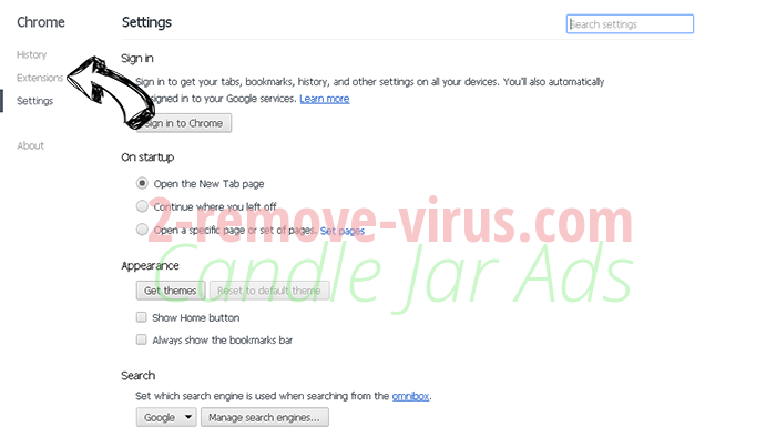GoSearch Adware Chrome settings