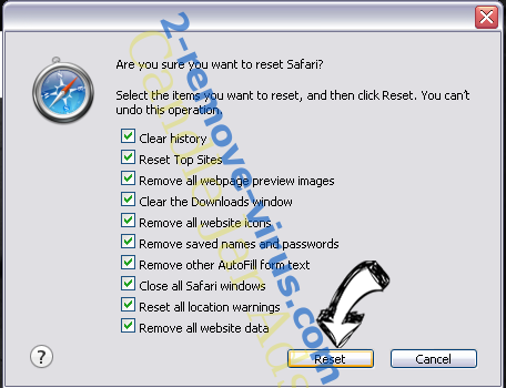 GoSearch Adware Safari reset