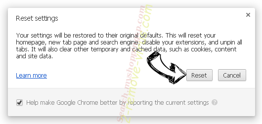 StreamSearchClub Chrome reset