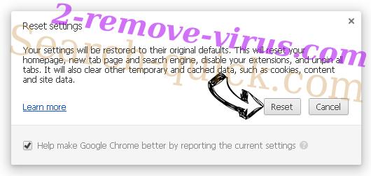 Wowcalmnessdumb.com Chrome reset