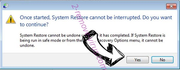 Resgateseup ransomware removal - restore message