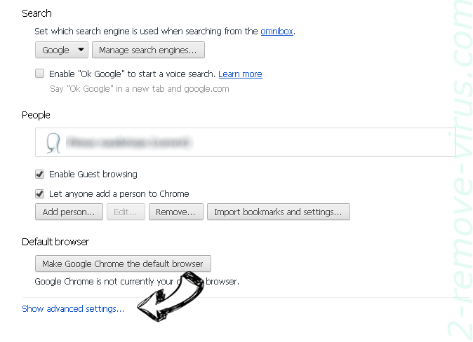 Tabanero Search Chrome settings more
