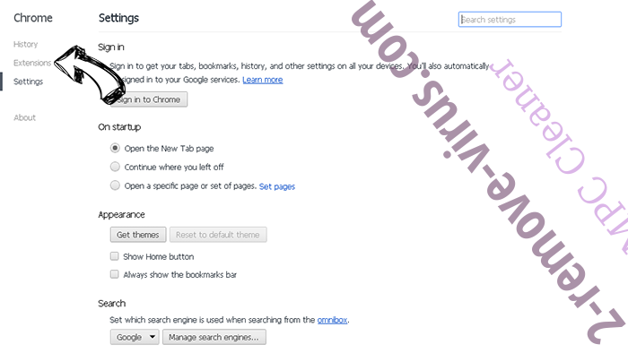 Links-yahoo.com Chrome settings