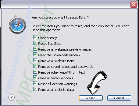 Easysearchit.com Safari reset