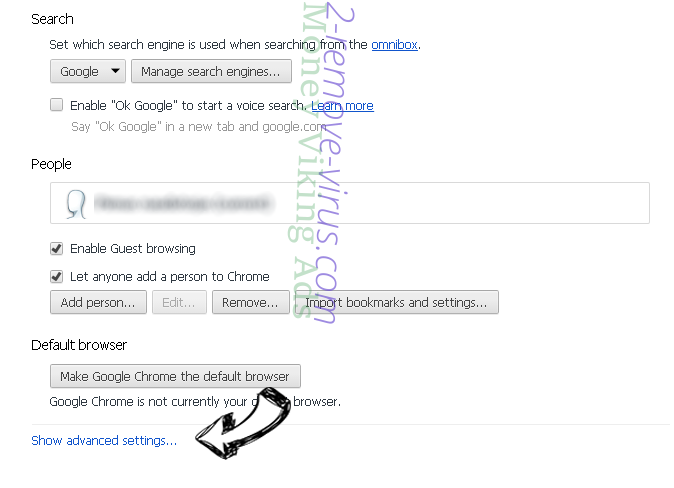 ClickMovieSearch Chrome settings more