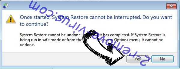 Msop ransomware removal - restore message