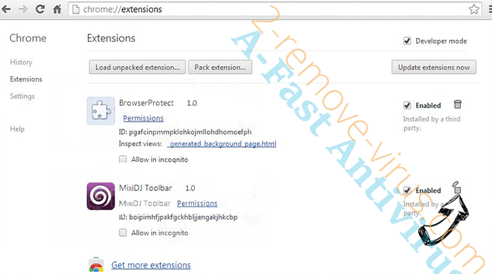 Softonic Web Search redirect Chrome extensions remove