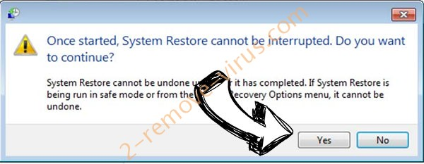 TRSomware Virus removal - restore message