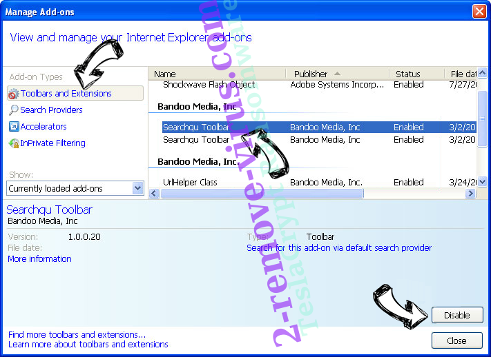 ChannelSystem Adware IE toolbars and extensions