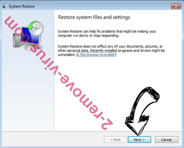 Get rid of .Nobu file Ransomware - restore init