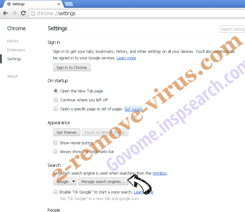 incognitosearchhome virus Chrome extensions disable