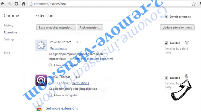 Divideunformingi.info Chrome extensions remove
