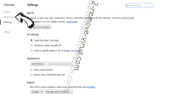 incognitosearchhome virus Chrome settings