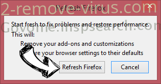 Vprotect application Firefox reset confirm