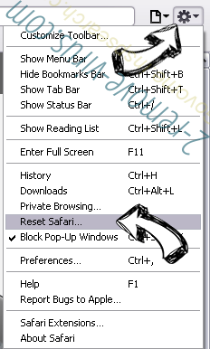 Search-me.club Virus Safari reset menu