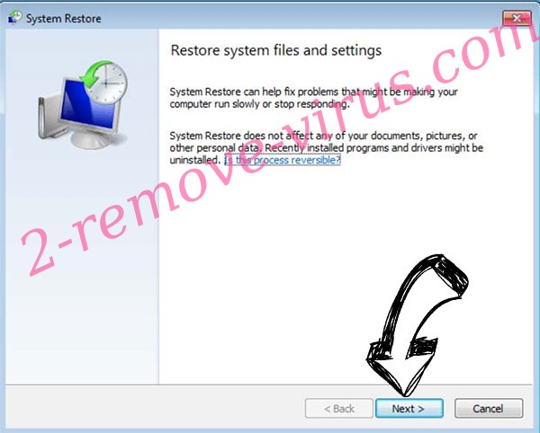 Get rid of .CR1 files ransomware - restore init