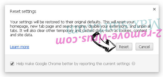 StreamSearchVault Search Chrome reset