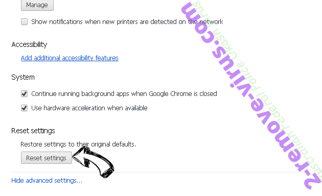 IncognitoSearchNet Chrome advanced menu