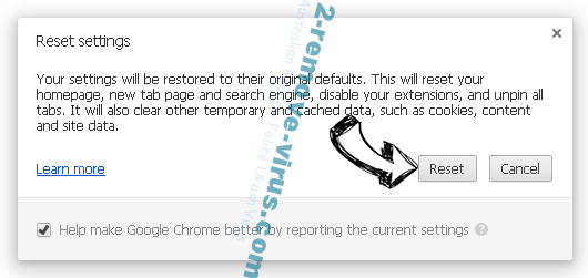 MonConvertisseur Chrome reset