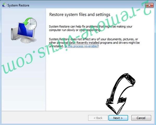 Get rid of Omfl Ransomware - restore init