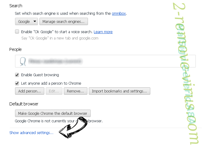 Xml-ads.com Chrome settings more
