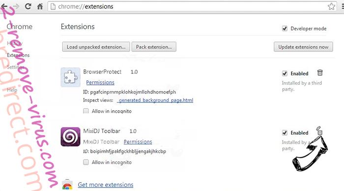 wbredirect.com Chrome extensions remove