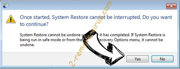 Cossy Ransomware Virus removal - restore message