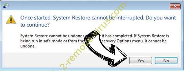 .Igal extension virus removal - restore message