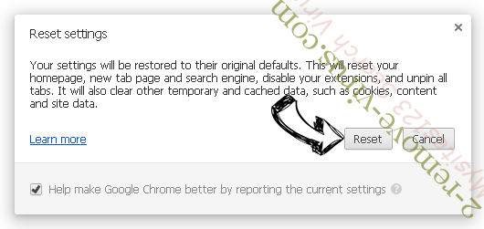 Privatemessage.site Chrome reset