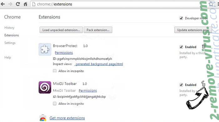 Pushstore.xyz Chrome extensions remove