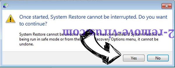 PLAM ransomware removal - restore message