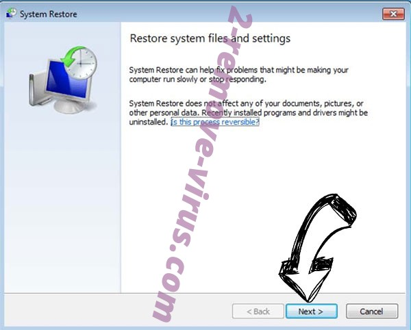 Get rid of MARS ransomware - restore init