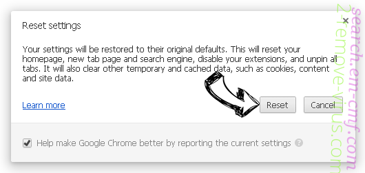 IncognitoSearchTech Chrome reset