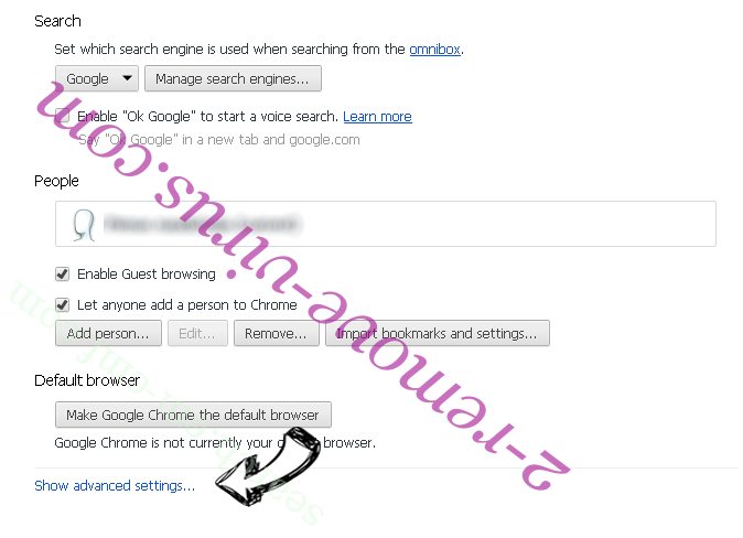 Sportsearchmaster Chrome settings more