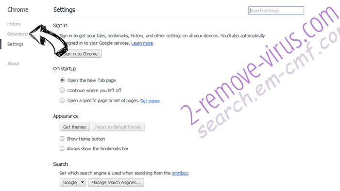 Search By MovieFinder365  Chrome settings