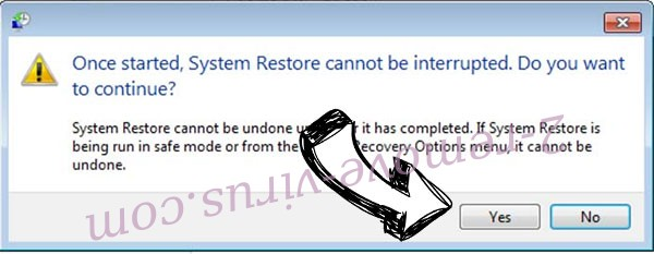 ransomware removal - restore message