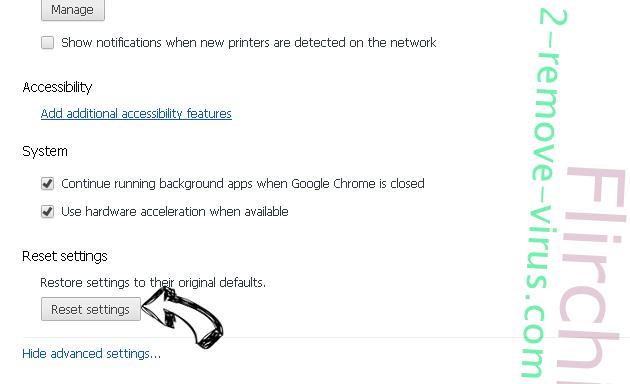 Search.packagetrackingprotab.com Chrome advanced menu