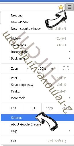 Search.packagetrackingprotab.com Chrome menu