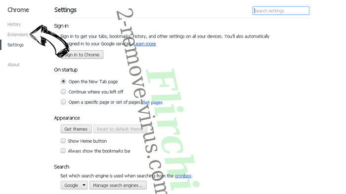 Search.packagetrackingprotab.com Chrome settings