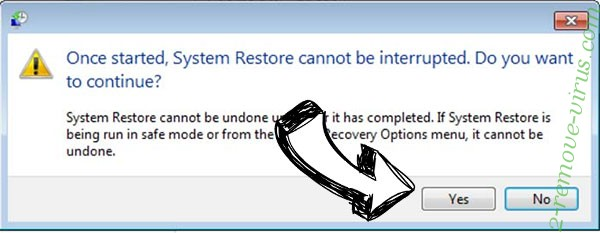 .encrypted file virus removal - restore message