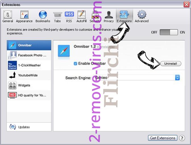 Search.packagetrackingprotab.com Safari extensions